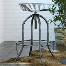 round table gridley adjule height bar stool