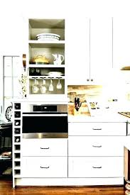kitchen cabinet wine rack insert under storage cupboard