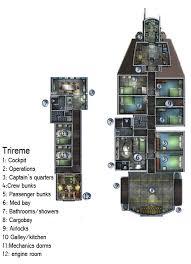 Cydonia 6 Ink  Starship Blueprints And Deck PlansSpaceship Floor Plan