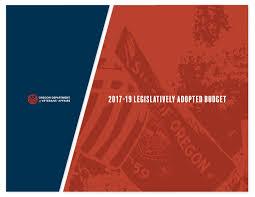 Odva 2017 19 Legislatively Adopted Budget By Oregon