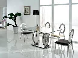Expandable Glass Dining Room Tables Interior Cool Design