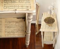 diy decoupage furniture. Sheet Music Side Table Diy Decoupage Furniture