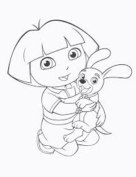 Top Dora The Explorer Coloring Pages Pdf Free Unknown Ruva
