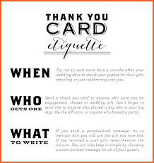 wedding thank you cards wording for money gifts wedding thank you note template gift registry card