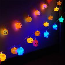 Indoor Halloween Lights Details About Battery Operated Led Pumpkins Skulls String Lights Halloween Party Indoor Decor