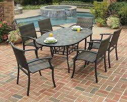 tile top patio table and slate top patio dining set round tile 72 tile top patio