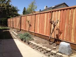 1x6x6 redwood picture frame fence w kick board