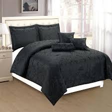 packer bedding set dahlia 6 comforter set black regarding popular property all black bed set prepare