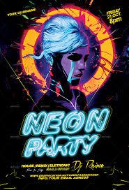Part Flyer Neon Party Flyers Omfar Mcpgroup Co