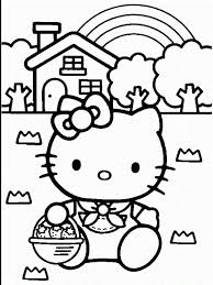 Free hello kitty coloring pages for you to color online, or print out and use crayons, markers, and paints. Happy Birthday Hello Kitty Coloring Pages Free Reference Images Coloring Home