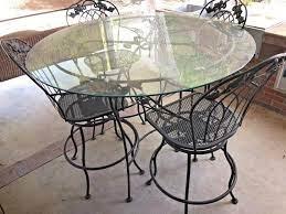 vintage tall patio set five piece iron