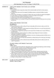 Application Product Manager Resume Samples Velvet Jobs