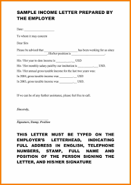 proof of no ine letter template how to write a letter self employment image collections
