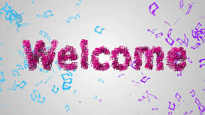 pink welcome welcome pink musical note particles loop animation stock animation