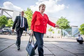 Merkel steps down ...