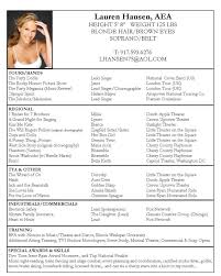Actress Sample Resumes Actors Resume Example Excellent Idea Acting Resumes Acting Resume 2