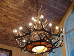 lamp deer horn chandelier with authentic look for your lighting intended for amazing residence antler chandelier remodel dining room ceiling fan