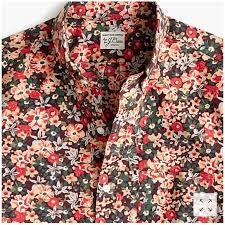 J Crew Men S Shirt Size Chart J Crew Slim Short Sleeve Secret Wash Floral Shirt Nwt