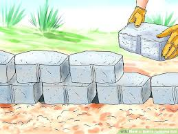 interlocking concrete blocks how to make a retaining wall cost per square foot ideas pictures
