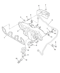 2009 chrysler sebring exhaust manifold turbo charger assembly heat shields diagram i2230483