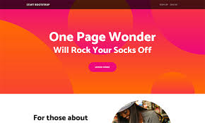 one page website template one page wonder free bootstrap template start bootstrap
