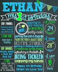 Chalkboard Sign Generator First Birthday Chalkboard Sign Poster Posters Boy App Diy