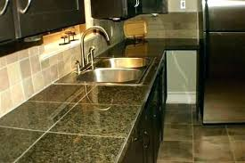Black Granite Countertops With Tile Backsplash Custom Black Granite Tile Countertop D Countertops White Subway Backsplash