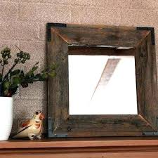 rustic wood framed mirrors. Rustic Wood Mirror Best Framed Products On Industrial Reclaimed Mirrors