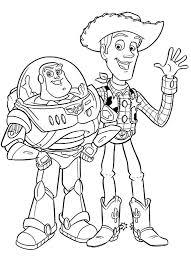 Toy Story Buzz Lightyear E Woody Disegni Da Colorare E Stampare