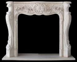 french style fireplace pictured in egyptian cream marble