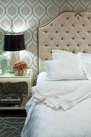 tufted furniture trend. rejuvenation tufted headboard wallpaper bedside lamp furniture trend