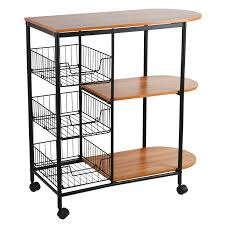 kitchen island trolley rolling dining cart tableware