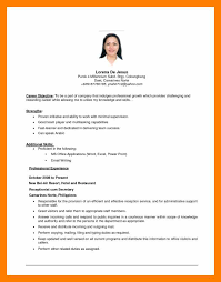 Professional Resume Objective 9 10 Objective On A Resume Samples Archiefsuriname Com