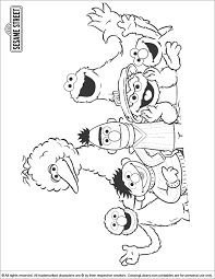 One of the nicest characters is the big bird. Sesame Street Printable Coloring Page Coloring Library