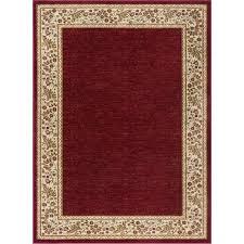 sns4740 5x8 5 x 7 medium beige and red area rug sensation