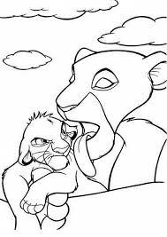 Nala Che Lava Simba Disegni Da Colorare Gratis Il Re Leone Disegni