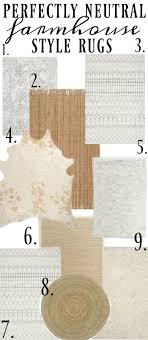 farmhouse style rugs. The Best Neutral Farmhouse Style Rugs | F