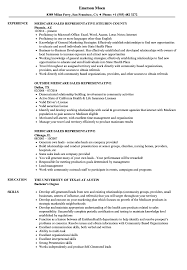 Resume For Medical Representative Job