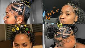Tie the hair ends with a hair band. Rubber Band Hairstyles On Natural Hair Youtube