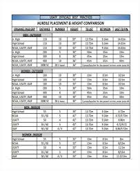 Usatf Metric Conversion Chart 9 Comparison Chart Template Free Sample Example Format