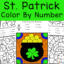 st patrick s day color by number fun