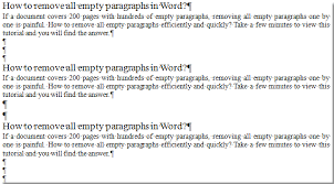 How To Remove All Empty Paragraphs In Word