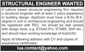 structural engineer job description structural engineers job opportunity 2018 jobs pakistan