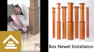Build Newel Post How To Install A Box Newel Youtube
