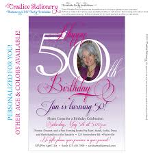 female th birthday party invitations spectacular 50th birthday invitations for