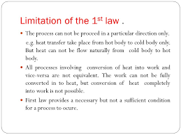 limitation of the 1st law
