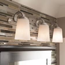 lighting fixtures for bathroom vanity. Shop Kichler 3-Light 24.46-in Brushed Nickel Cylinder Vanity Light At Lowes.com. Bathroom LightingLight Fixtures Lighting For