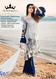 Heavy Designer Suits Wholesale Mohtarma Fabrics Taabiir Designer Suit With Heavy Embroidery