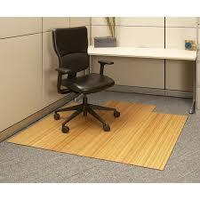 Dark Cherry 48 X 72 Bamboo Roll Up Office Chair Mat Hayneedle