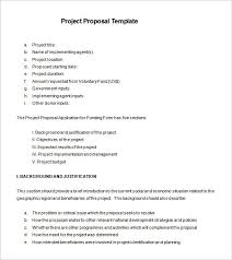 Short Templates Short Project Proposal Template Xaoufeiya Com